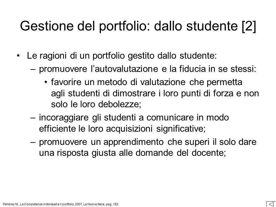 Gestione del portfolio: dallo studente [2]